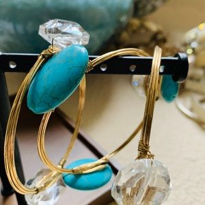 NWOT gold turquoise and glass bracelets
